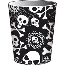 Halloween Bekers Skelet 250ml 8 stuks