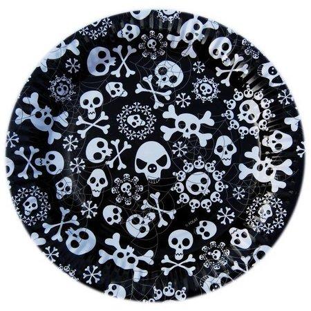 Halloween Borden Skelet 23cm 8 stuks