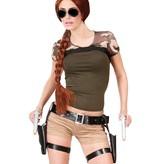 Beenholsters Tomb Raider en pistolen