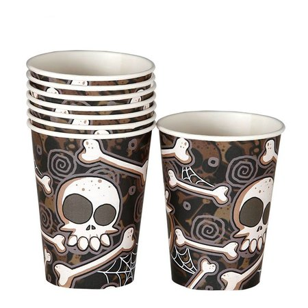 Halloween Bekers Botten 250ml 8 stuks