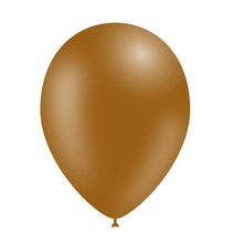 Bruine Ballonnen 25cm 10 stuks