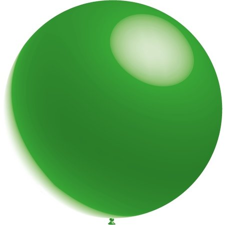 Groene Reuze Ballon XL Metallic 91cm