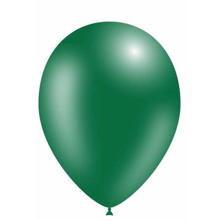 Donkergroene Led Ballonnen Metallic met schakelaar 30cm 4 stuks