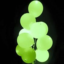 Lime Groene Led Ballonnen met schakelaar 30cm 4 stuks