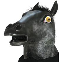 Paardenmasker Zwart volledig