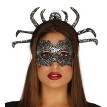 Halloween Oogmasker en Diadeem Spin