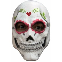 Mexicaans Masker Dia de los Muertos Deluxe voorkant