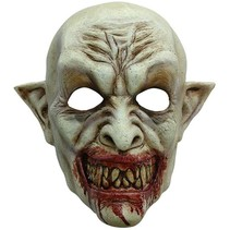 Halloween Masker Vampier Bloed Deluxe volledig
