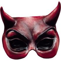Halloween Masker Duivel Rood Deluxe half