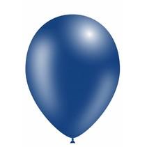 Donkerblauwe Ballonnen Metallic 30cm 50 stuks