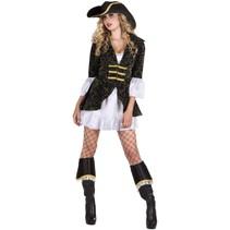 Piratenpak Dames Zwart