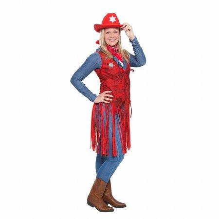 Cowboy Vest Rood