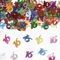 Tafelconfetti 16 Jaar 1cm 600 stuks