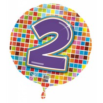 Helium Ballon 2 Jaar 43cm leeg