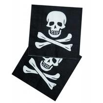 Piraten Servetten Doodshoofd 12 stuks