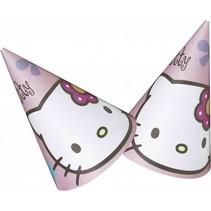 Hello Kitty Hoedjes 6 stuks