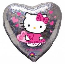 Hello Kitty Helium Ballon Hart 45cm leeg