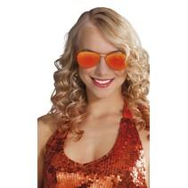 Oranje Aviator Bril