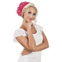Haarbloem Roze 20cm