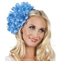 Haarbloem Blauw 20cm