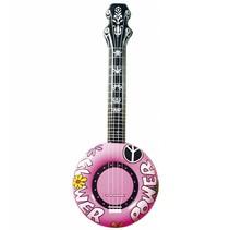Opblaasbare Banjo Roze 83cm