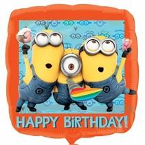 Minion Helium Ballon Happy Birthday 43cm leeg
