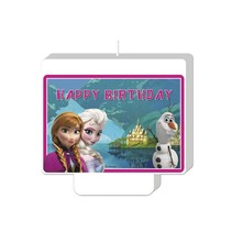 Frozen Kaars Happy Birthday 9cm