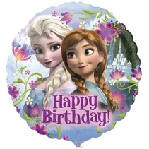 Frozen Helium Ballon Happy Birthday 43cm leeg