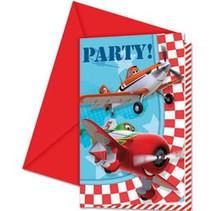 Planes Uitnodigingen 6 stuks