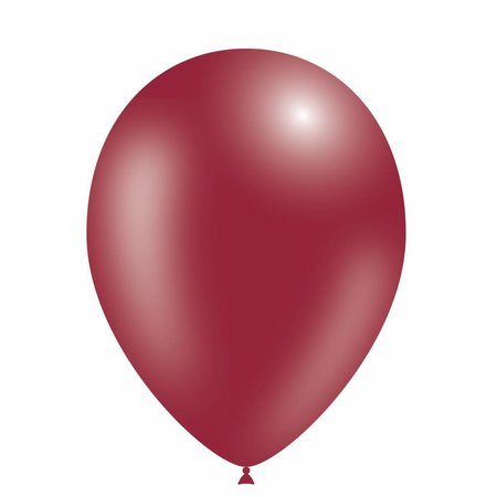 Bordeaux Rode Ballonnen Metallic 25cm 10 stuks