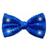Glitter Strik Blauw met lampjes