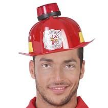 Brandweerhelm met sirene en geluid