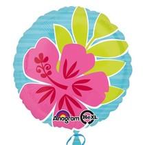 Helium Ballon Bloemen 45cm leeg