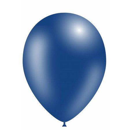 Donkerblauwe Ballonnen Metallic 30cm 10 stuks
