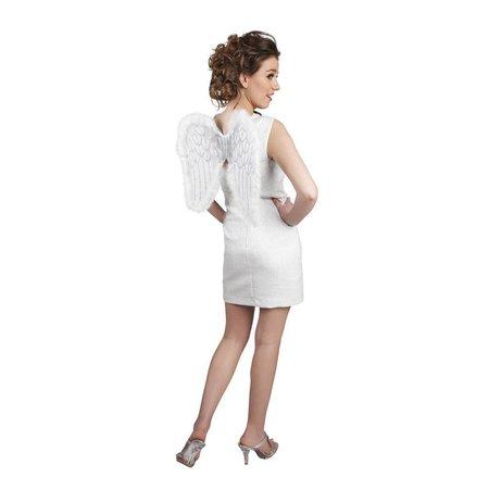 Engelen Vleugels Wit met glitters 50cm