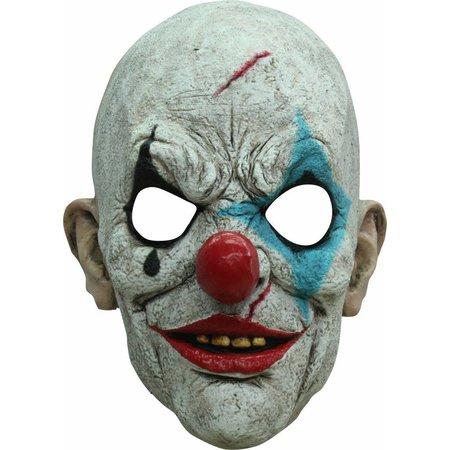 Halloween Masker Clown Traan Deluxe volledig