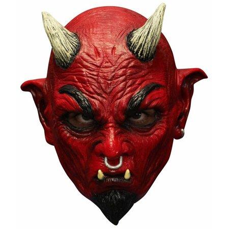 Halloween Masker Duivel Deluxe volledig