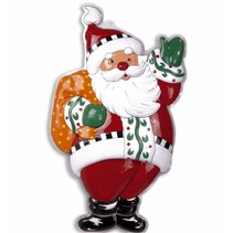 Kerstman Wanddecoratie met kerstzak 100cm