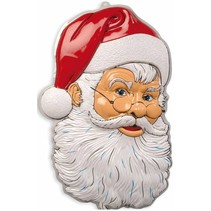 Kerstman Wanddecoratie met kerstmuts 77cm