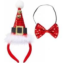 Kerst Diadeem Kerstmuts en Strikje