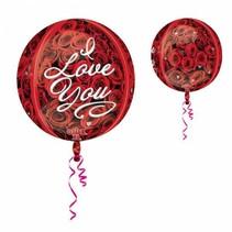 Helium Ballon Rond I Love You 40cm leeg of gevuld