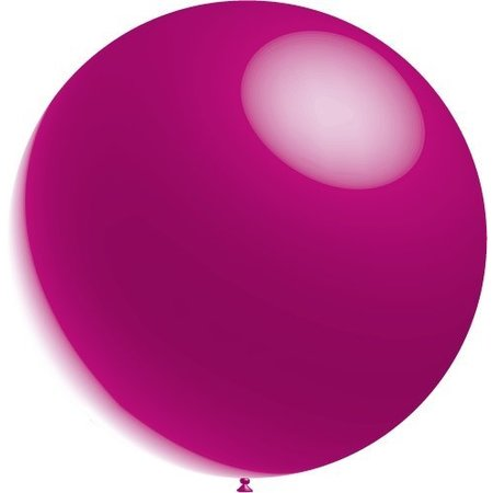 Fuchsia Reuze Ballon Metallic 60cm