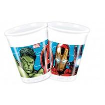 Avengers Bekers 200ml Mighty 8 stuks