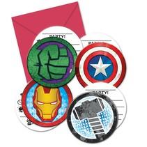 Avengers Uitnodigingen Mighty 6 stuks