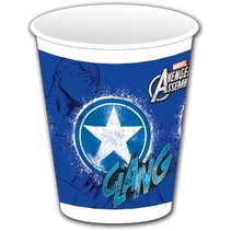 Avengers Bekers Captain America 200ml 8 stuks