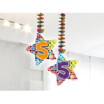 Hangdecoratie 5 Jaar 75cm 2 stuks