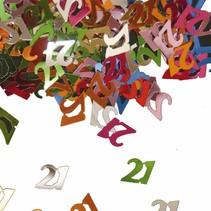 Tafelconfetti 21 Jaar 1cm 600 stuks
