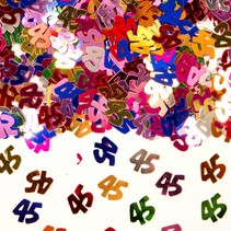 Tafelconfetti 45 Jaar 1cm 600 stuks