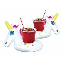 Opblaas Unicorn Bekerhouders 2 stuks