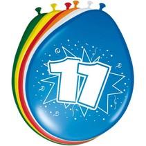 Ballonnen 11 Jaar 30cm 8 stuks